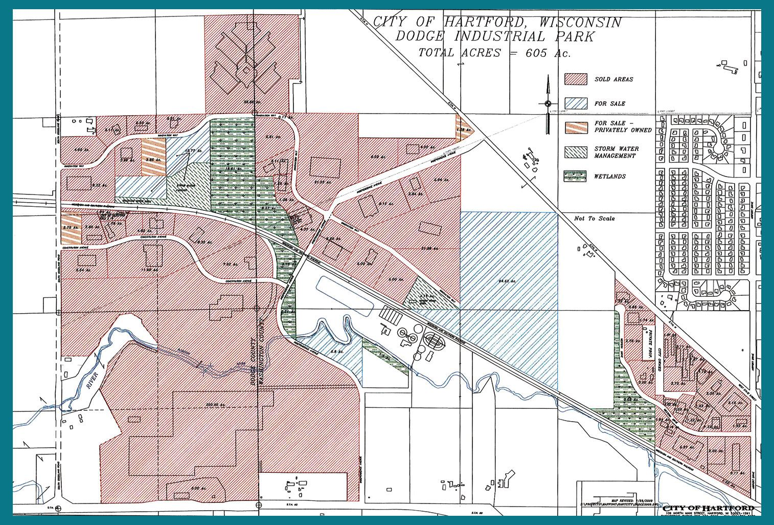 City of Hartford Wisconsin Dodge Industrial Park Map