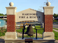 Hartford Fire and Rescue Bell and Sign